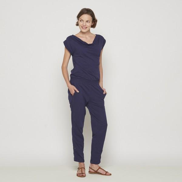 Jumpsuit Overall Hosenanzug Blau Modern Tranquillo Mila Größe S 36 Bio Baumwolle